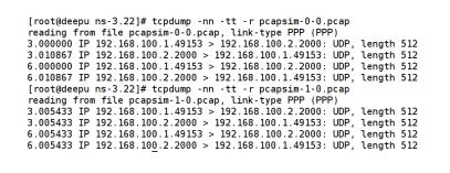 Figure 2 Output of tcpdump