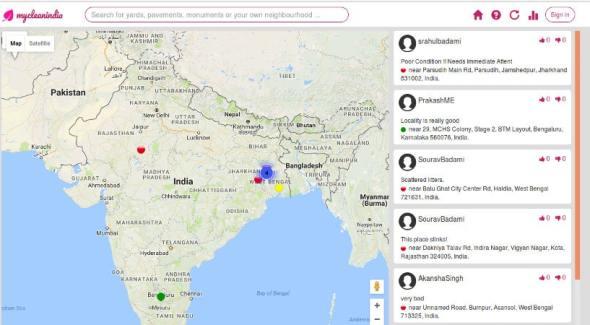 My Clean India app