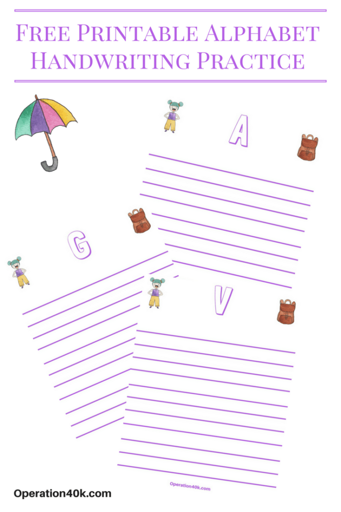 practice writing letters worksheets