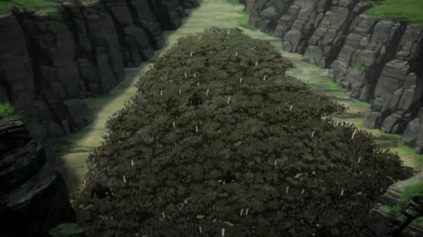 Shin Sekai Yori - Ground Spider ambush.
