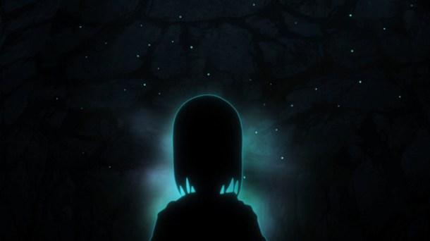 Shin Sekai Yori - Saki doing hypnosis.