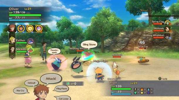 Ni no Kuni Battle System