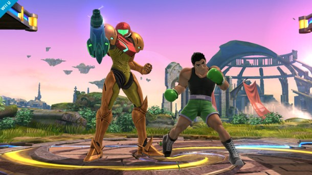 Samus and Little Mac Pose - Smashing Saturdays | oprainfall