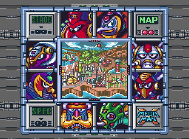 Mega Man X | Stage Select