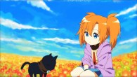 A cute anime girl and her talking cat are lost in the woods...