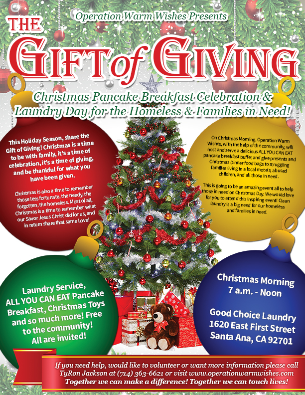 Operation Warm Wishes Presents The Gift of Giving \u2013 Christmas - christmas luncheon flyer