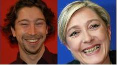 À gauche, Jean-Michel Thénard du Canard Enchaîné, à droite, Lilian Alemagna de Libération