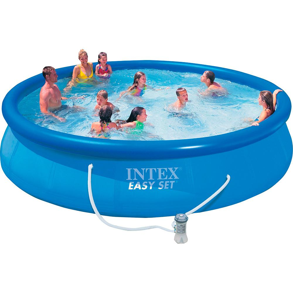Piscinas Intex Site Piscina Pvc Easy Set Redonda 10 681l Bomba Filtro Escada