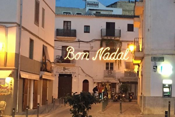 Weihnachtsbeleuchtung in Eivissa, Ibiza
