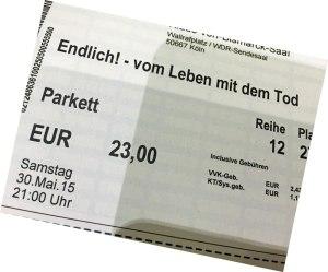 Eintrittskarte zur Phil.Cologne