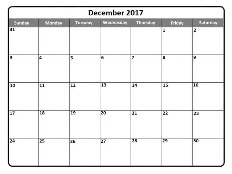 December Monthly Calendar Template - Free HD Images - december monthly calender
