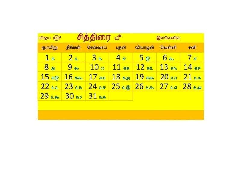 November 2017 Tamil, Telugu and Malayalam Calendar - Free HD Images