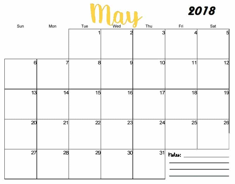 May Calendar 2018 Template Important Dates - Free HD Images - important dates template