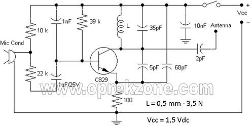 FM Wireless Microphone Schematic