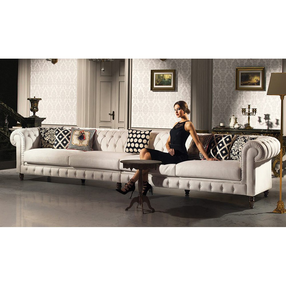 Couch Im Landhausstil 6 Sitzer Sofa Landhausstil In Creme Online Bei *** Optimamoebel ***