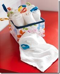 petites serviettes lavables