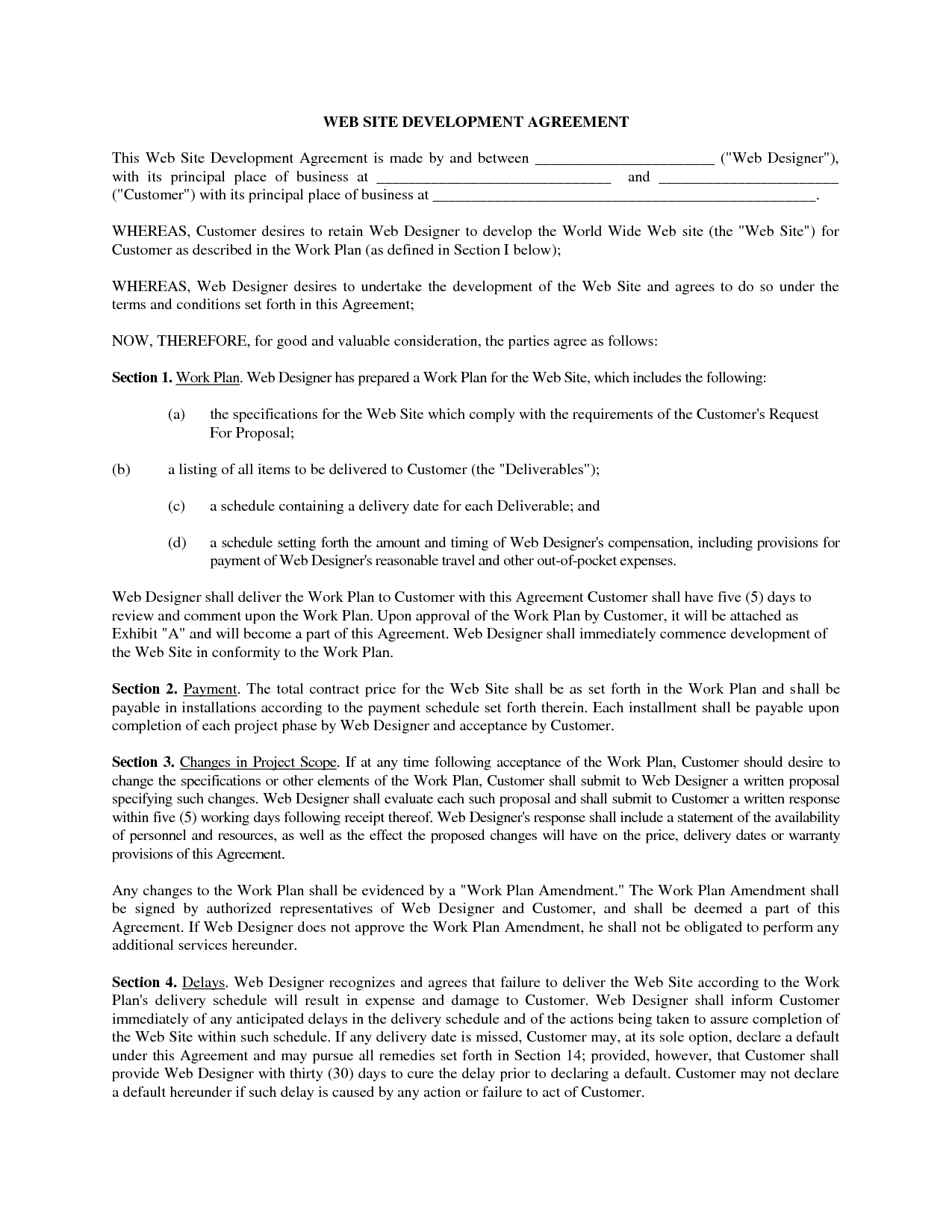 example of a business contract