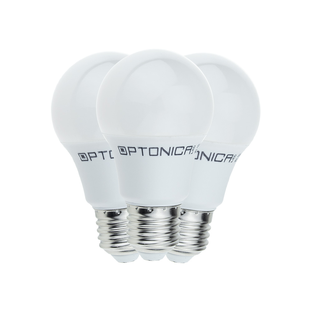 Led Bulb A60 E27 10w 806lm Ra 80 Ac175 265v 3pcs Box Optonica Bg