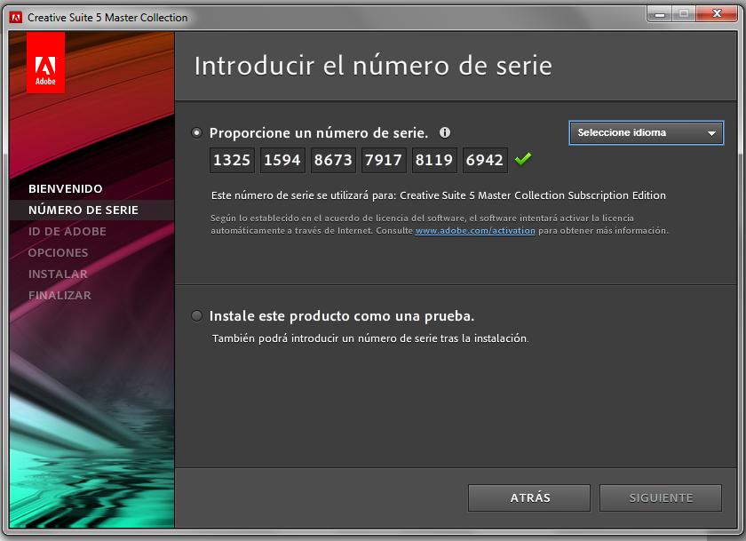 Adobe photoshop serial