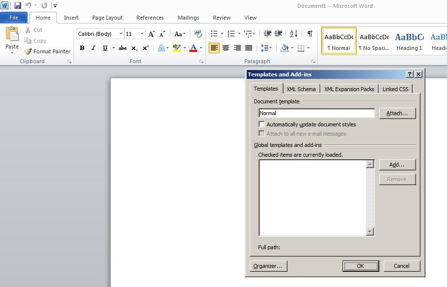 Steps to Enable BI Publisher Add-In menu in Microsoft office 2010