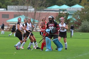 File photo of the Lady Spartans and their goalie Tess Martin