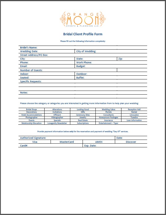 customer profile template word - Josemulinohouse - Customer Profile Template