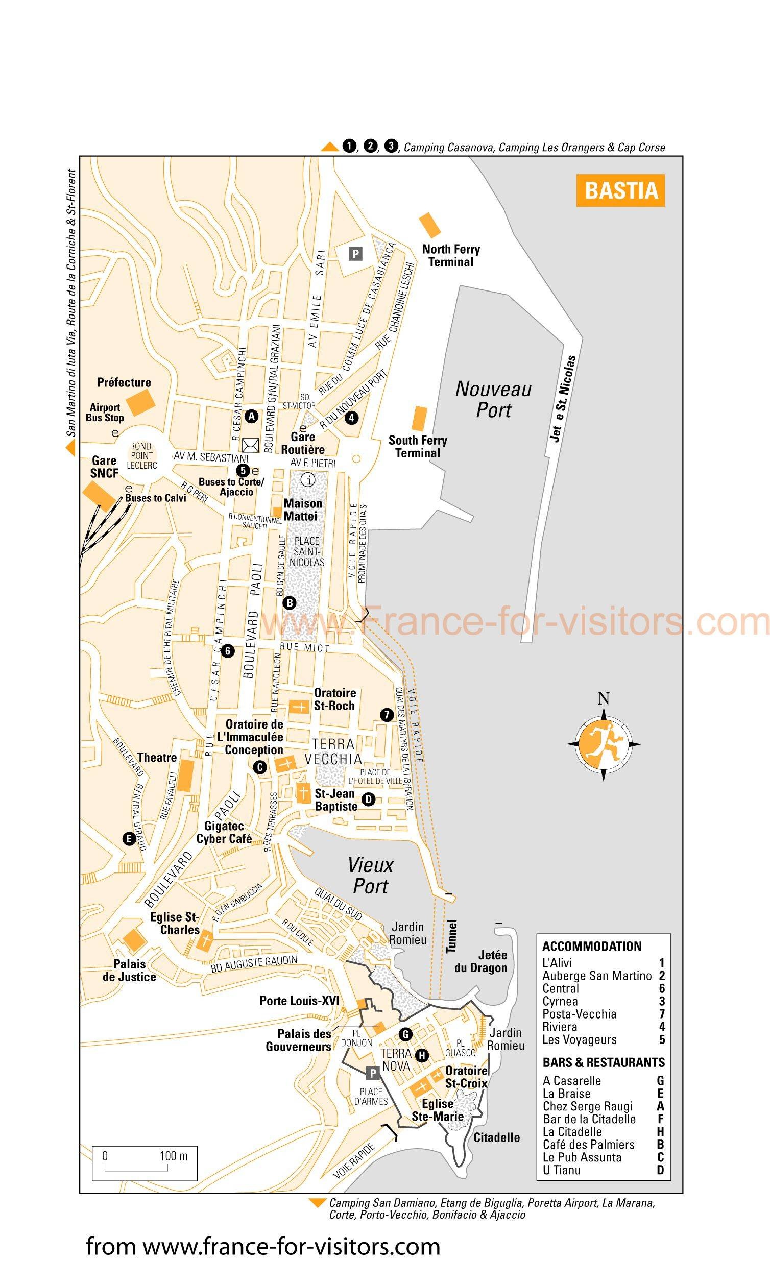 Hotel Port Bastia Large Bastia Maps For Free Download And Print High Resolution