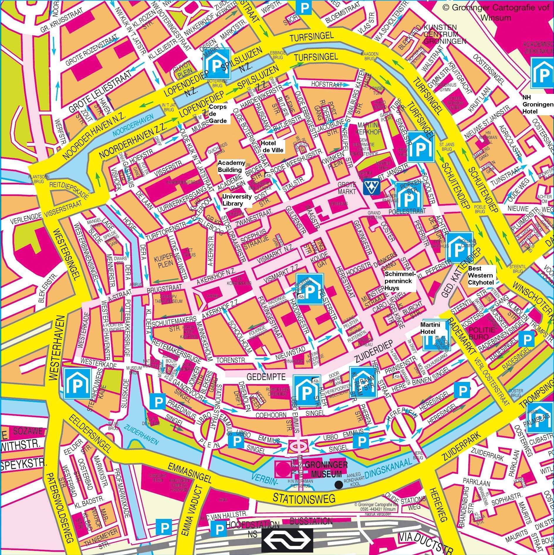 Venlo Stadtplan Large Groningen Maps For Free Download And Print | High