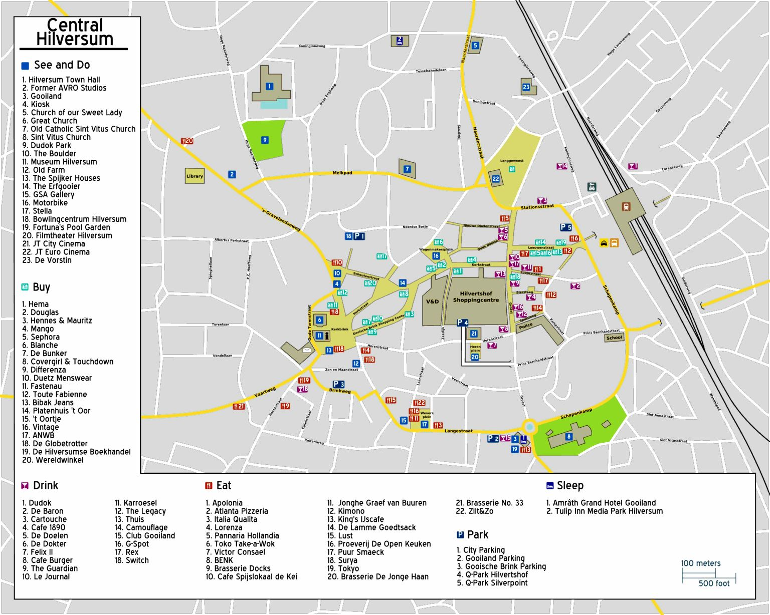 Maps Hilversum Large Hilversum Maps For Free Download And Print | High