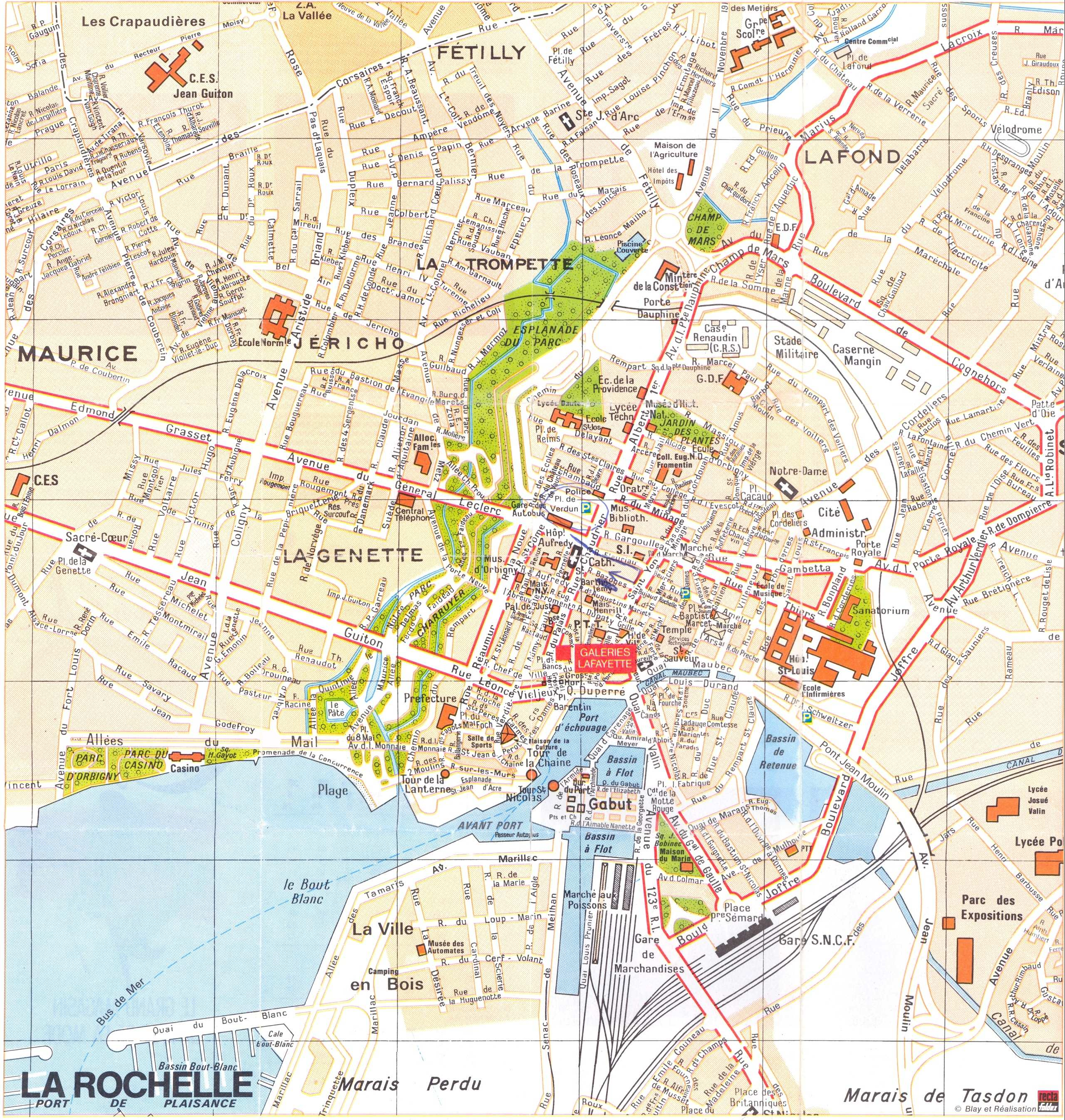 Toulouse Perpignan Bus Large La Rochelle Maps For Free Download And Print | High