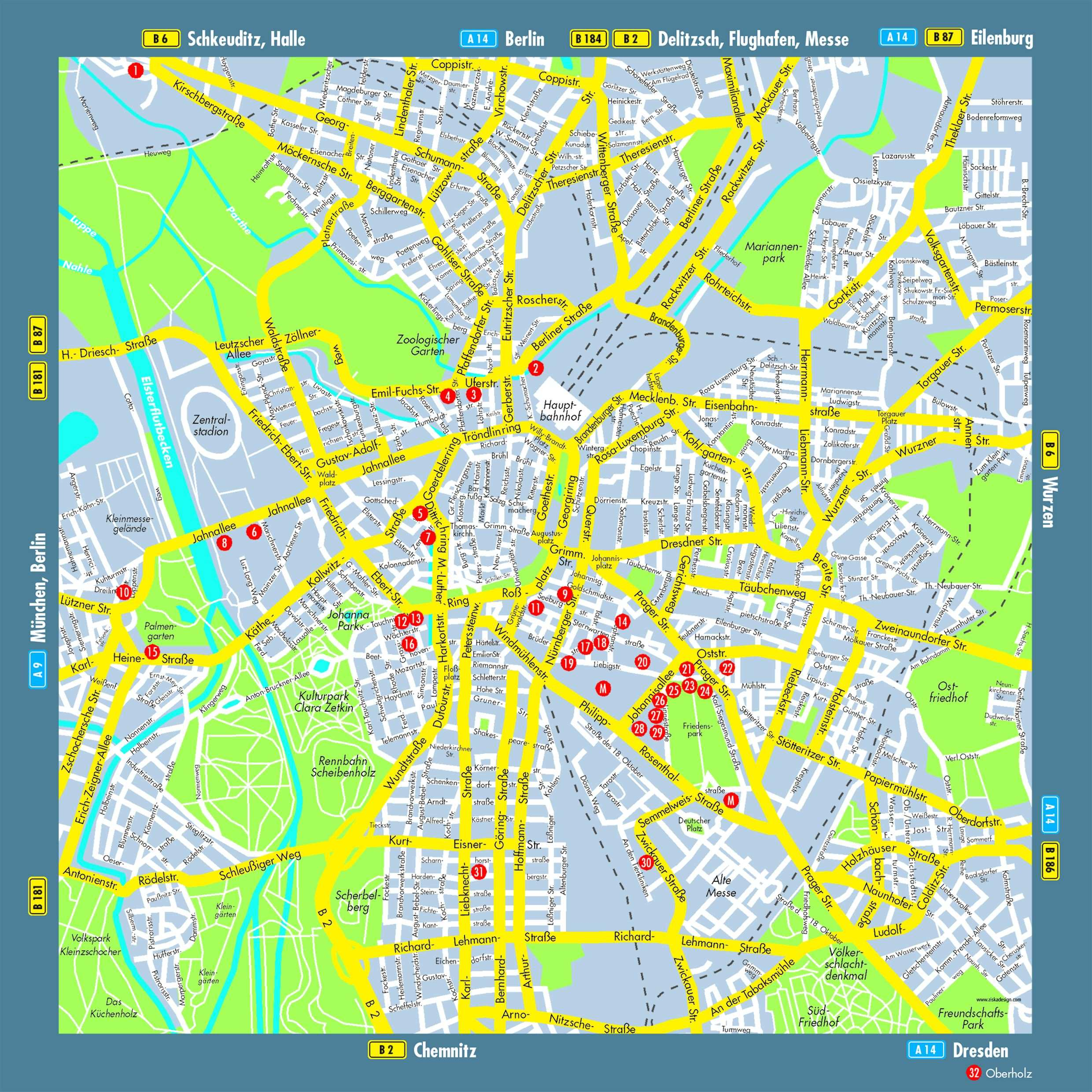 Maps Saarbrücken Large Leipzig Maps For Free Download And Print High Resolution