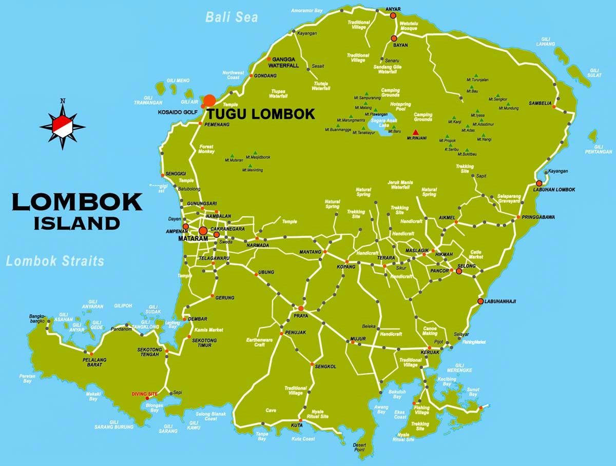 Gili Lombok Large Lombok Island Maps For Free Download And Print