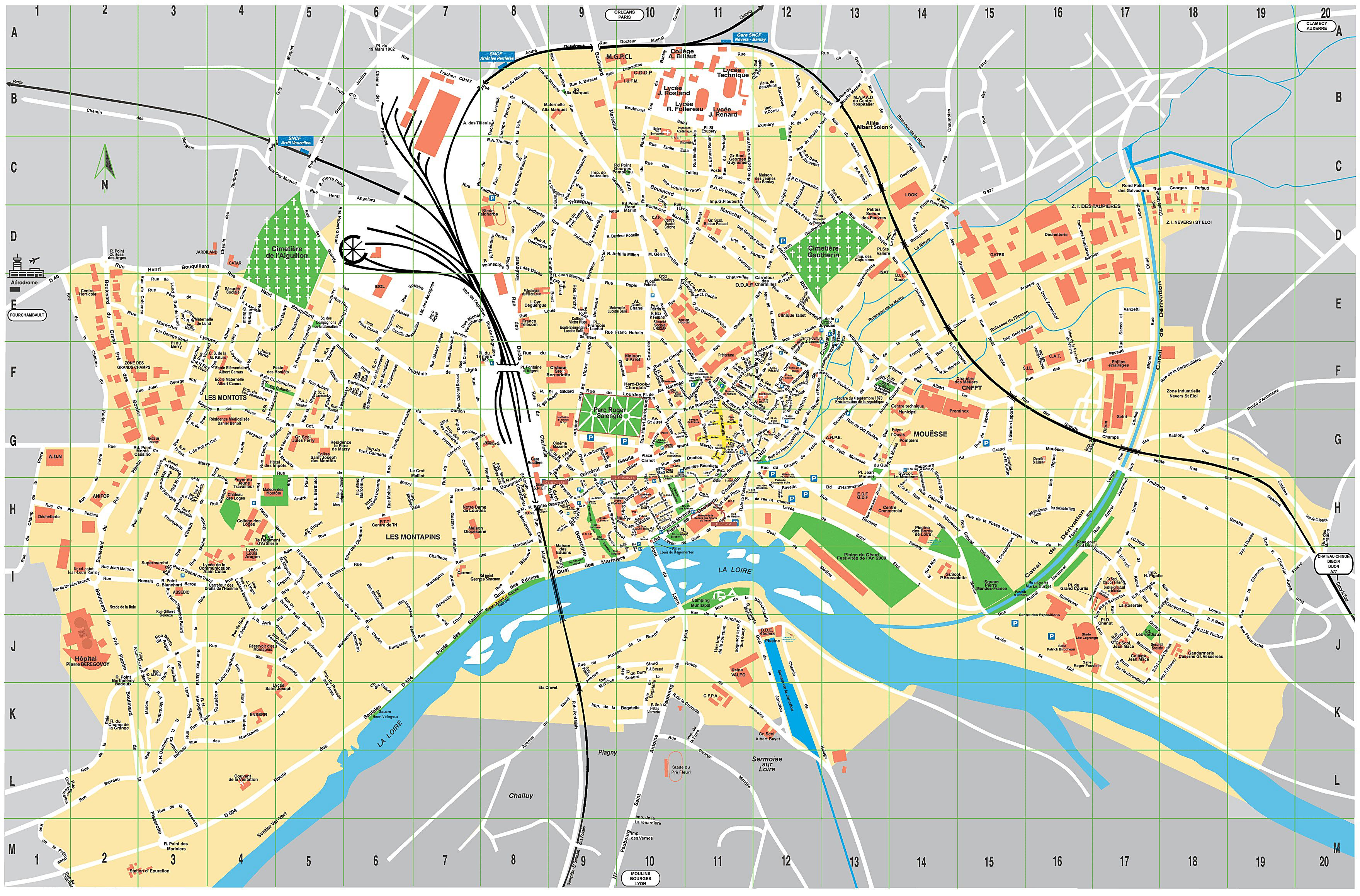 Visiter Rouen à Pied Large Nevers Maps For Free Download And Print High