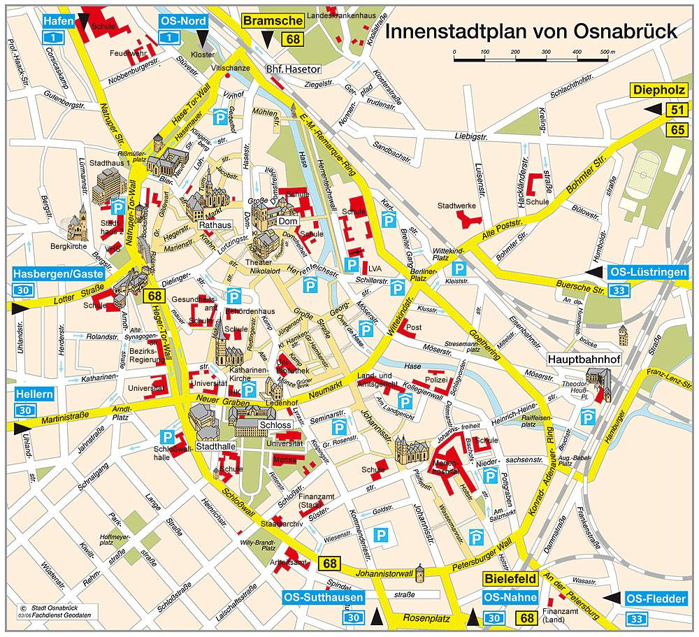 Maps Oldenburg Large Osnabruck Maps For Free Download And Print High Resolution