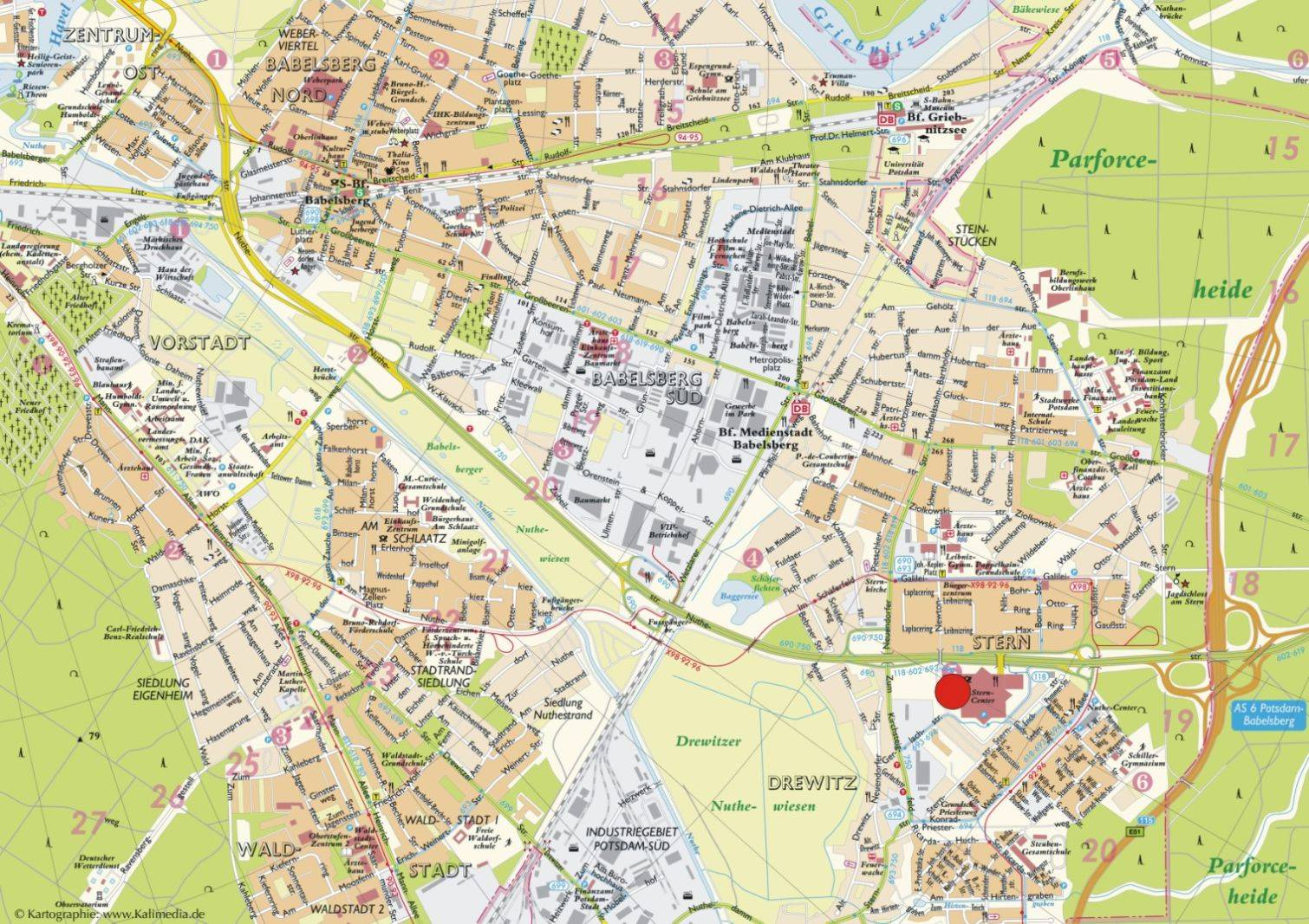 Maps Saarbrücken Large Potsdam Maps For Free Download And Print High Resolution