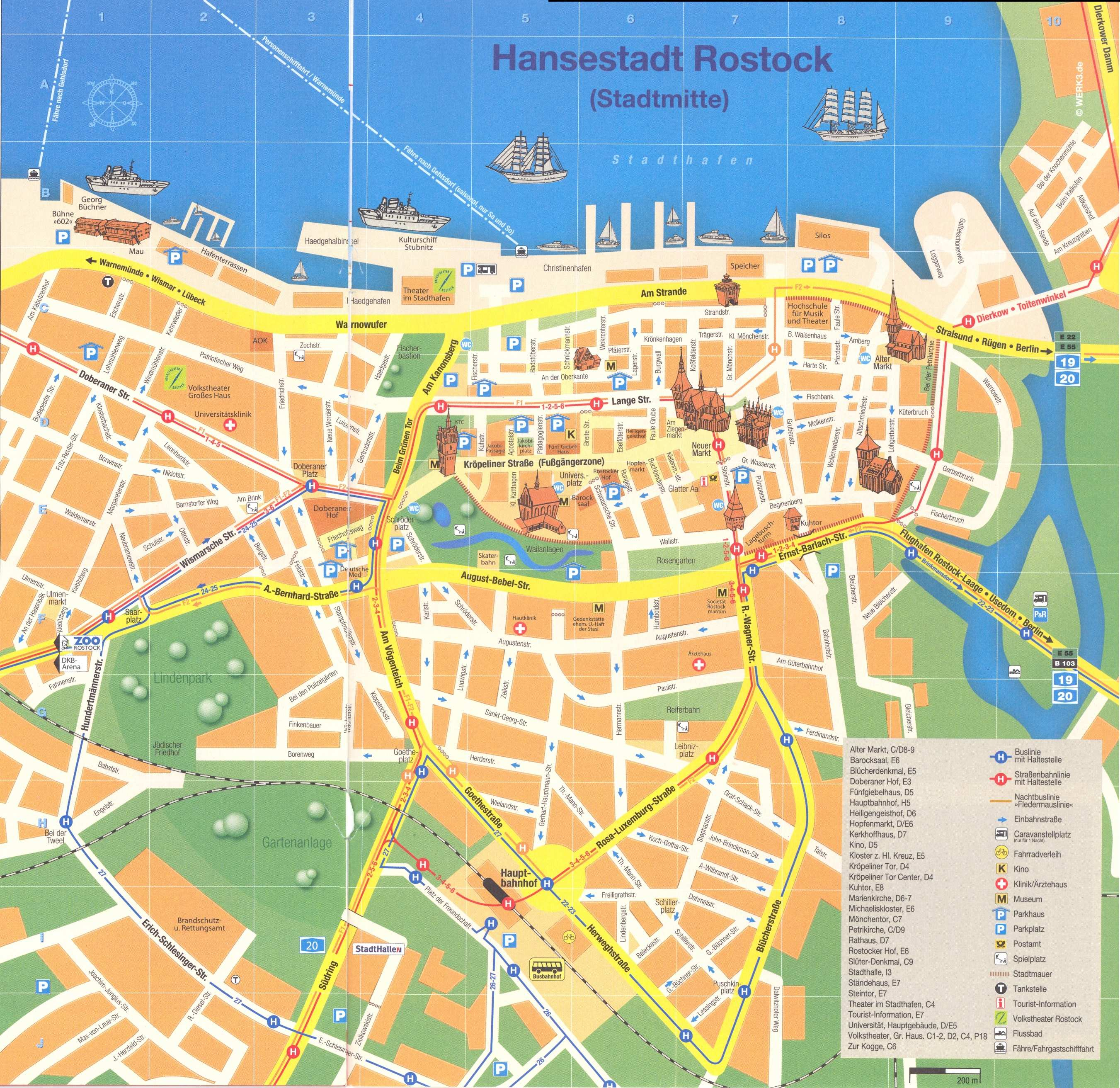 Maps Saarbrücken Large Rostock Maps For Free Download And Print High Resolution