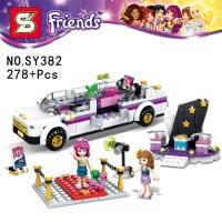 Friends Pop Star Limo. Building Kit Sets. Mini Figures ...