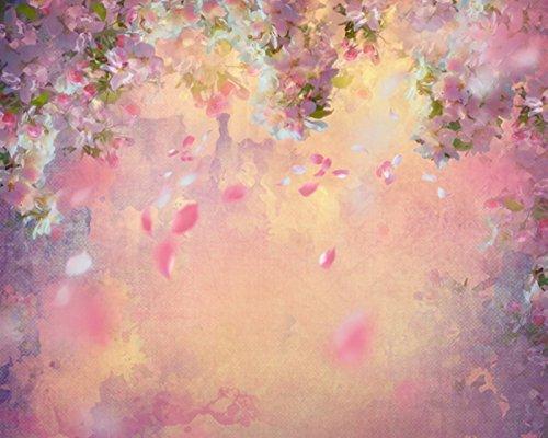 Falling Cherry Blossom Wallpaper Hd 150 150cm Floral Flores Arte De La Tela De Vinilo