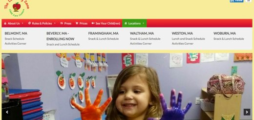 the learning zone childcare center website feautes responsive design