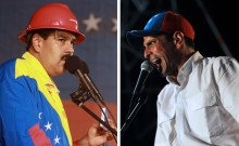 Capriles y Maduro 2013
