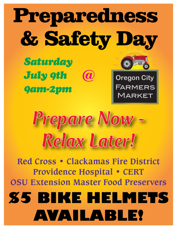 Preparedness And Safety Day Oregon City Farmers Market