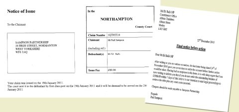 Court Papers Ed Balls Bad Debts