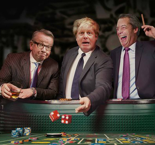 boris gove farage gambling gamble casino