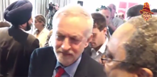 "CORBYN LAUGHS AND JOKES WITH SMEETH HECKLER ""I TEXTED YOU"""