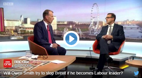 "OWEN SMITH: IT WOULD BE ""TEMPTING"" TO BLOCK BREXIT"