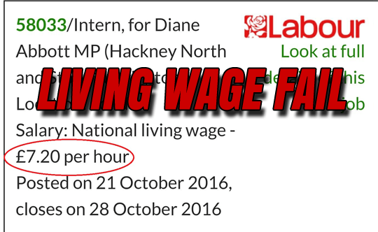 Diane Abbott Offered Interns £2 Below Living Wage