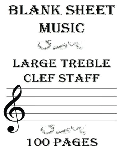 Blank Sheet Music With Treble Clef - Order Coloring Books and Notebooks - clef music