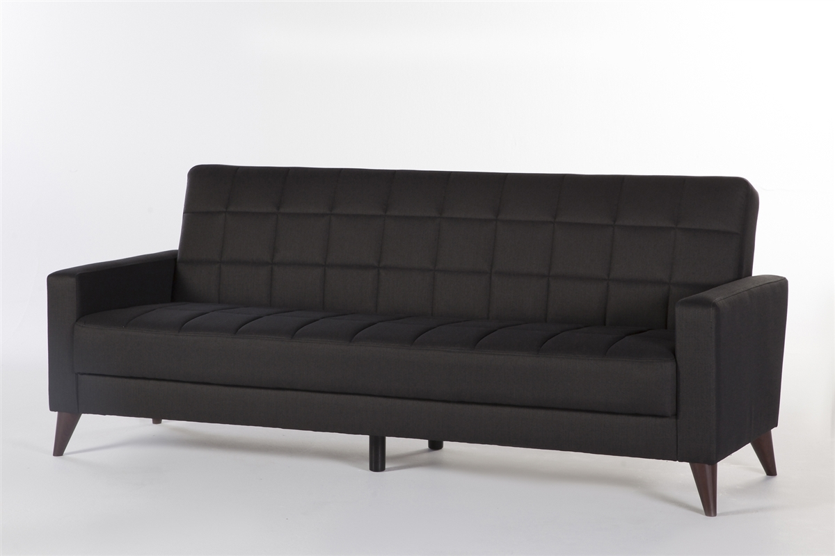 Sleeper Sofa Quick Delivery Luca Convertible Sleeper Sofa Diego Dark Gray