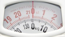Close Up Of Bathroom Scales Dial