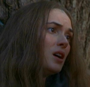Wynona Ryder as Abigail Williams in The Crucible